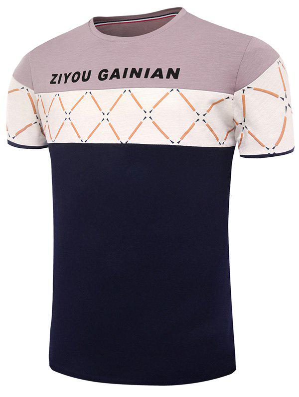 Graphic Pattern Color Block Short Sleeves Tee karcher 15162600 sc 1 пароочиститель