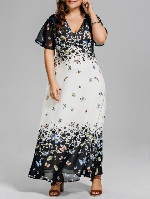 d639939a38d LIMITED OFFER  2019 Plus Size Butterfly Print Long Beach Dress In ...