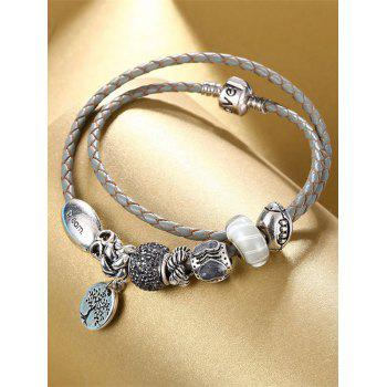 Tree of Life Engraved Love Charm Bracelet - GRAY