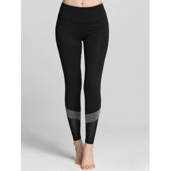 Mesh Trim Color Block Gym Leggings