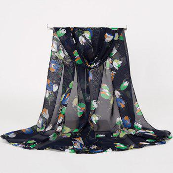 Gossamer Multicolor Flowers Printing Lightsome Scarf