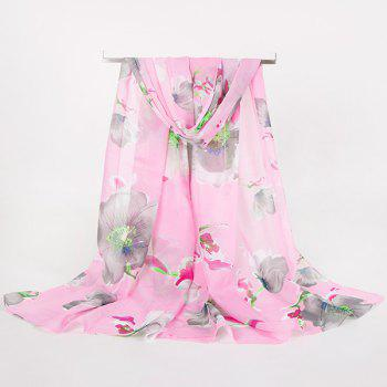 Long Watercolour Flowers Printing Gossamer Scarf