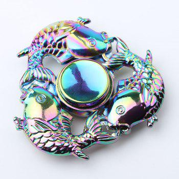 Carp Fish Tri-bar Colorful Fidget Metal Spinner - COLORMIX COLORMIX