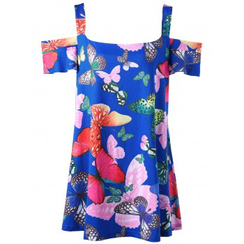 Butterfly Print Plus Size Top