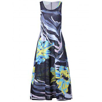 Plus Size Sleeveless Floral Maxi Dress