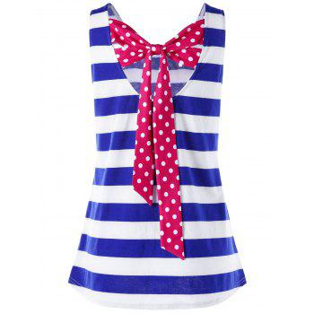 Stripe Back Bowknot Tank Top