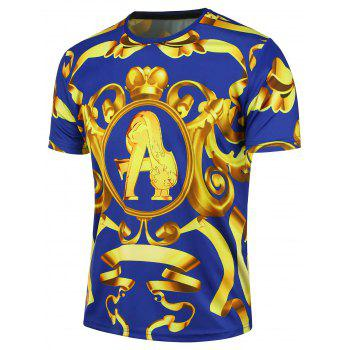 3D Bowknot Graphic Print Short Sleeve T-shirt