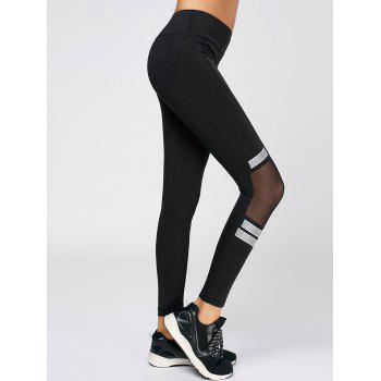Mesh Trim Polka Dot Running Leggings