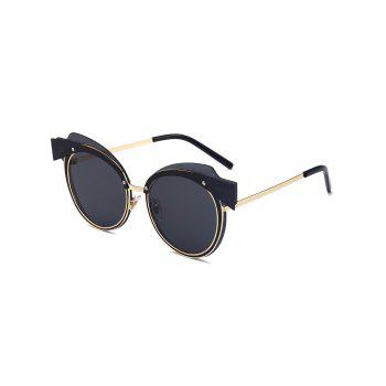 Metallic Spliced Top Frame Cat Eye Sunglasses