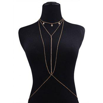 Rhinestone Star Beach Body Chain - GOLDEN GOLDEN