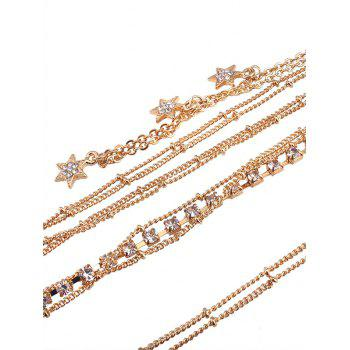 Rhinestone Star Beach Body Chain -  GOLDEN