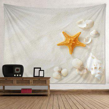 Wall Hanging Art Decoration Beach Shell Print Tapestry