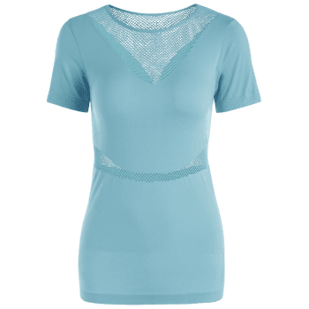 Mesh Openwork Breathable Fitness T-shirt - M M