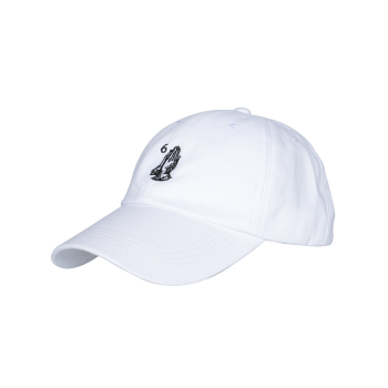 Palms Number Embroidered Baseball Hat -  ALL WHITE