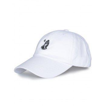 Palms Number Embroidered Baseball Hat - ALL WHITE ALL WHITE