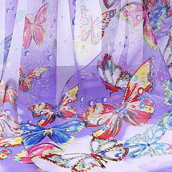 Chiffon Lightsome Fancy Butterfly Printed Scarf - PURPLE