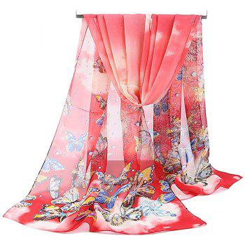 Chiffon Lightsome Fancy Butterfly Printed Scarf