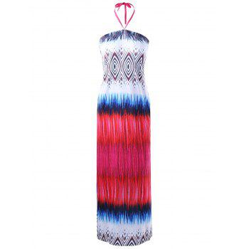 Halter Neck Tribal Maxi Dress