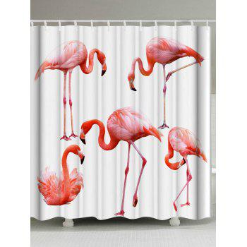 Flamingo Mildewproof Polyester Shower Curtain