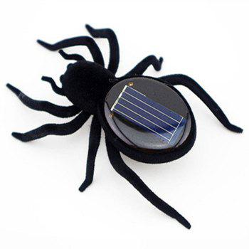 Solar Power Spider for Children Teaching Gadget Gift -  BLACK