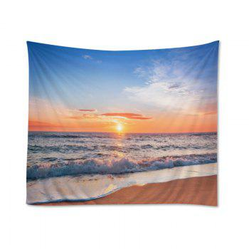 Wall Hanging Art Decor Beach Sunset Print Tapestry - CITRUS W79 INCH * L71 INCH