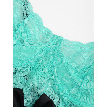 Robe de sommeil en lingerie - LIGHT GREEN XL