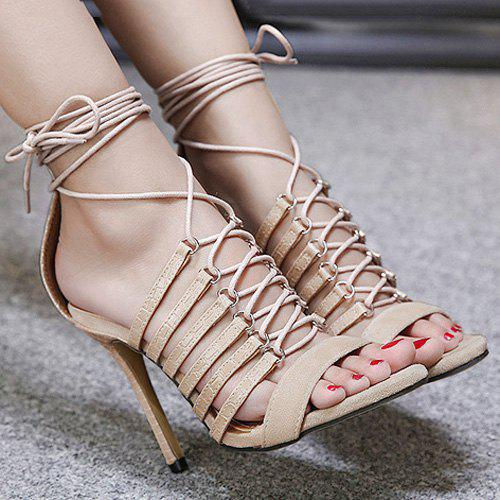 Tie Up Faux Leather Stiletto Heel Sandals medical model of the human brain of the brain anatomical model of brain ventricles brain and nervous model gasen nsj003