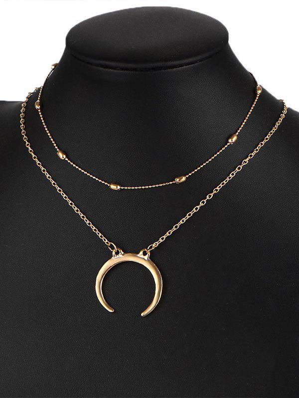 Gypsy Moon Pendant Necklace Set - GOLDEN