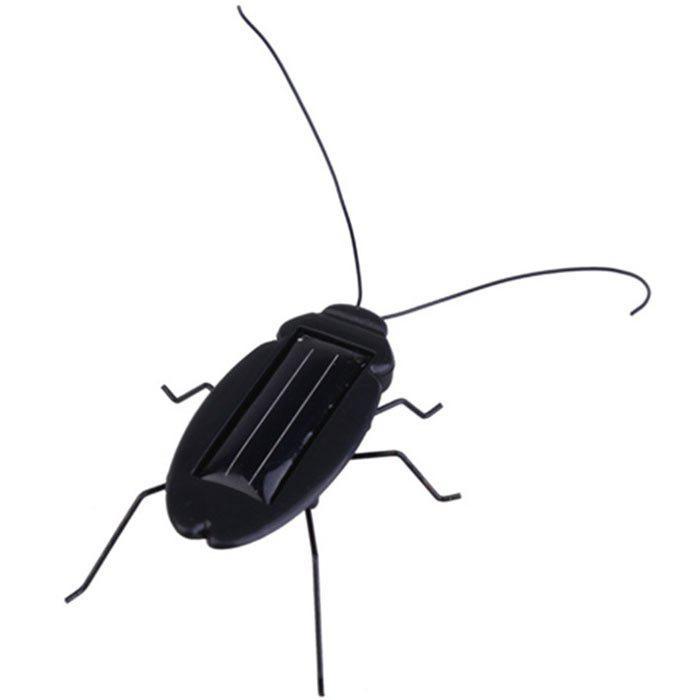 Frightened Kit Solar Powered Cockroach - BLACK