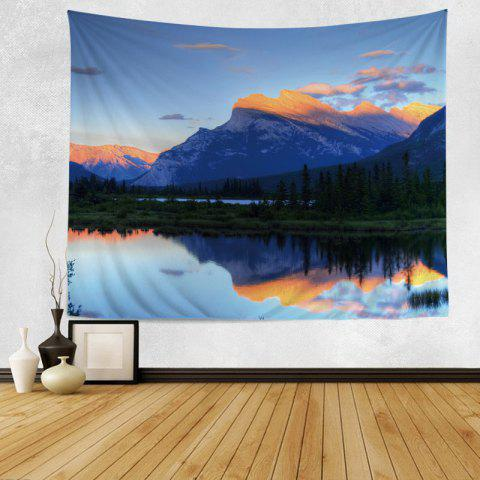Wall Hanging Art Decor Mountain Scenery Print Tapestry - COLORMIX W59 INCH*L51 INCH