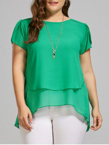 Green Plus Size Tops