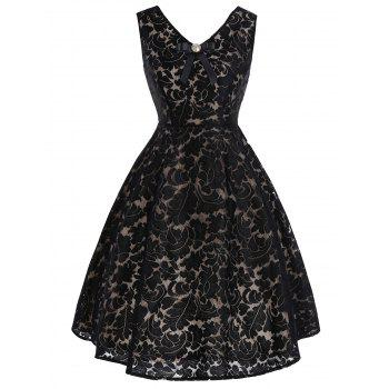 Bowknot Lace Vintage Dress
