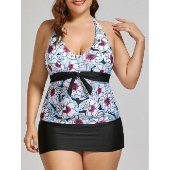 Padded Halter Plus Size Floral Bathing Suit