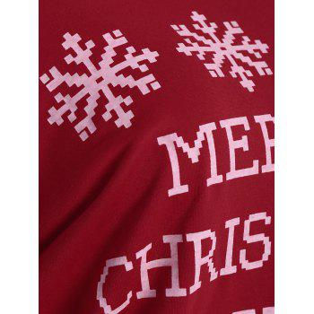 Snowflake and Letter Print Christmas Sweatshirt - RED XL