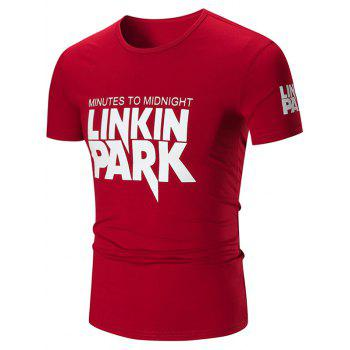 Crew Neck Linkin Park Graphic T-shirt