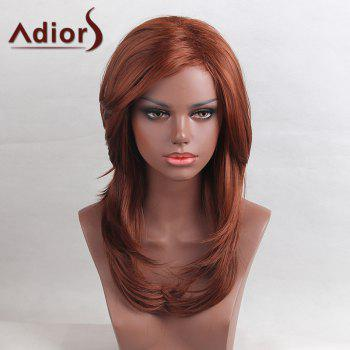 Adiors Long Tail Adduction Side Bang Layered Straight Synthetic Wig