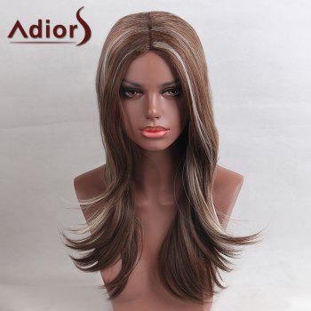 Adiors Long Highlight Colormix Center Part Straight Synthetic Wig