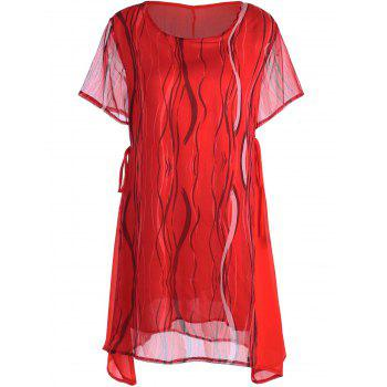 Chiffon Printed Plus Size Tunic Top