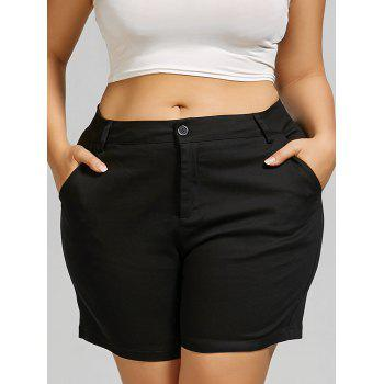 Plus Size Chino Shorts with Pockets