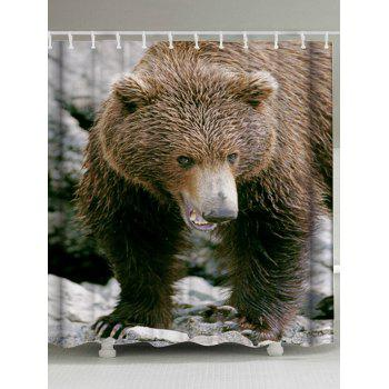 Bath Decor Bear Animal Fabric Shower Curtain