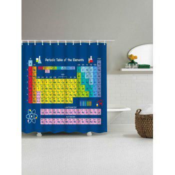 Periodic Table of Elements Waterproof Fabric Shower Curtain - COLORFUL W65 INCH * L71 INCH