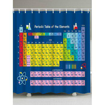 Periodic Table of Elements Waterproof Fabric Shower Curtain