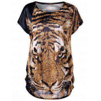 Plus Size Tiger Print Baggy Top