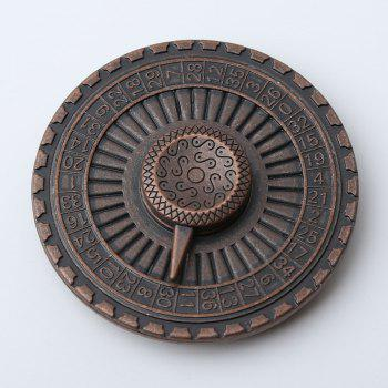Alloy Turntable Shape Hand Spinner Stress Reducer - BRONZE-COLORED 6*6*1.3CM