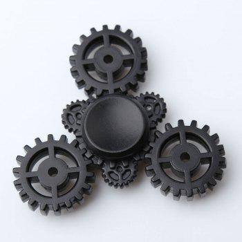 Gear Anti Stress Triangle EDC Fidget Spinner - BLACK BLACK