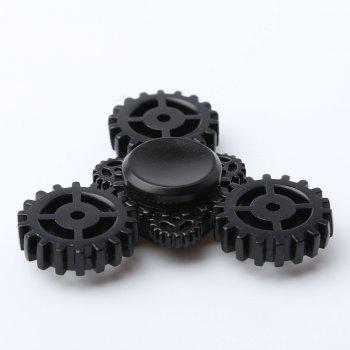 Gear Anti Stress Triangle EDC Fidget Spinner - BLACK 7*7*1.3CM