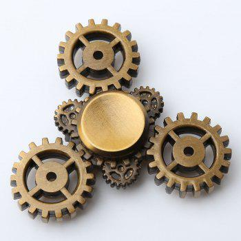 Gear Anti Stress Triangle EDC Fidget Spinner - BRONZE-COLORED 7*7*1.3CM