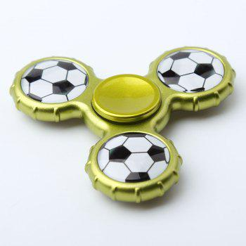 Football Pattern Sport Hand Spinner Fidget Toy - Jaune/ Vert 8*8*1.3CM