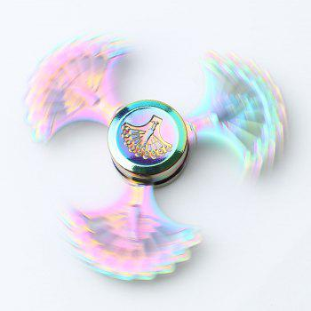 Peacock Blades High Speed ​​Metal Fidget Spinner - Coloré 7.5*7.5*1.3CM