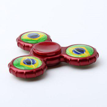 Football Pattern Sport Hand Spinner Fidget Toy - Rouge Foncé 8*8*1.3CM